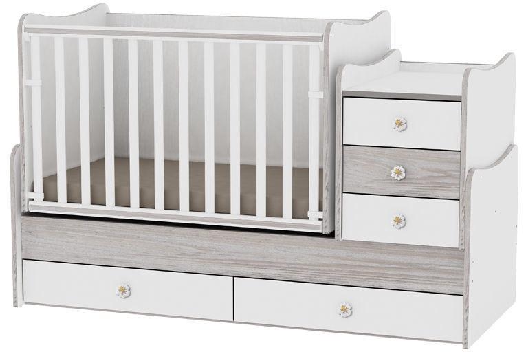 Vaikiška lova Bertoni Lorelli Maxi Plus White/ArtWood, 167x72 cm