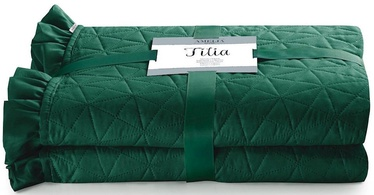 AmeliaHome Tilia Bed Coverlet Dark Green 260x280cm