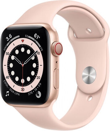 Apple Watch Series 6 GPS 44mm LTE Gold Aluminum Pink Sand Sport Band