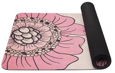 Fitnesa un jogas paklājs Yate F, rozā/bēša, 185 cm x 68 cm x 4 mm