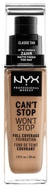 NYX Can't Stop Won't Stop Full Coverage Foundation 30ml Classic Tan