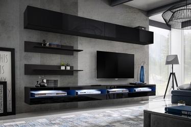 ASM Fly T4 Living Room Wall Unit Set Black