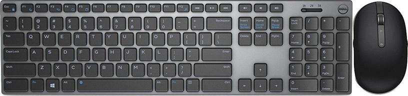Клавиатура DELL KM717 Wireless Keyboard ENG/RUS Grey