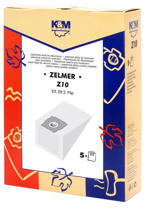 K&M Vacuum Cleaner Bags 5 Z10 For Zelmer
