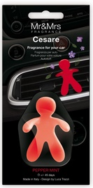 Mr & Mrs Fragrance Cesare Car Air Freshener 1pc Pepper Mint