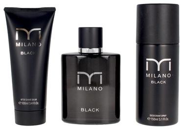 Подарочный набор для мужчин Milano Black 3pcs Set EDT
