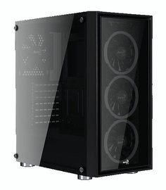Aerocool Case Quartz REVO Tempered Glass Black