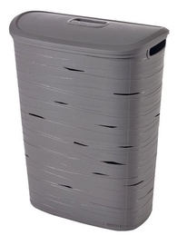 Curver Ribbon Laundry Hamper 49l Grey