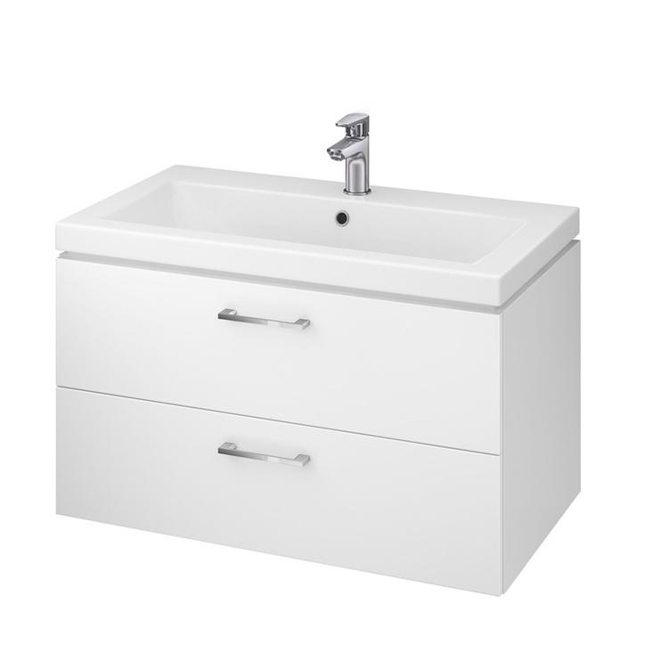 Pakabinama vonios spintelė su praustuvu Cersanit Lara S801-149-DSM, balta