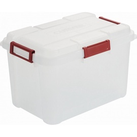 Curver Outback Box With Lid 60l Transparent Red