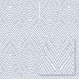 Tapetas flizelino pagrindo Sintra 342657 Lorraine, pilkas sidabrinis geometrinis