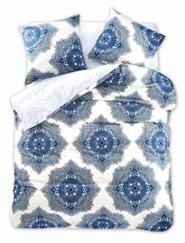 Gultas veļas komplekts DecoKing Diamond, zila/balta, 200x220/80x80 cm
