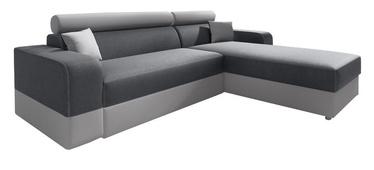 Kampinė sofa Idzczak Meble Infinity Lux Grey/Light Grey, dešininė, 184 x 184 x 95 cm