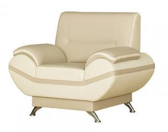 Bodzio Livonia Armchair Eco Leather Beige/Pearl