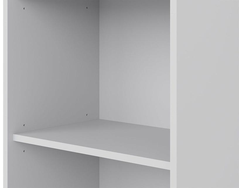 Riiul Black Red White Lux Light Gray, 52.5x114x35 cm