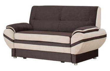 Bodzio Livonia Sofa 2 Velor Dark Brown/Cream