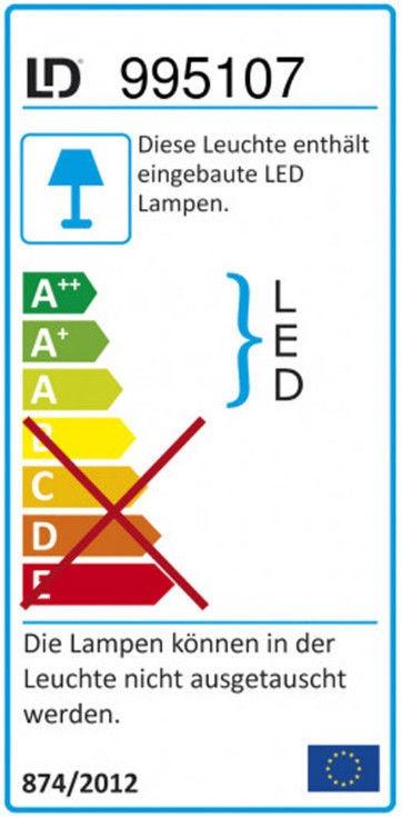 Leuchten Direkt Maja 15383-55 Floor Lamp 3x18.6W LED Chrome