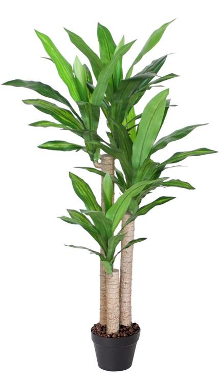 Искусственный цветок Home4you Dracaena Artificial Plant In Pot H125cm Green