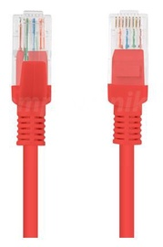 Lanberg Patch Cable UTP CAT5e 0.5m Red