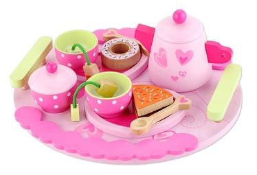 Žaislinis medinis arbatos servizas
