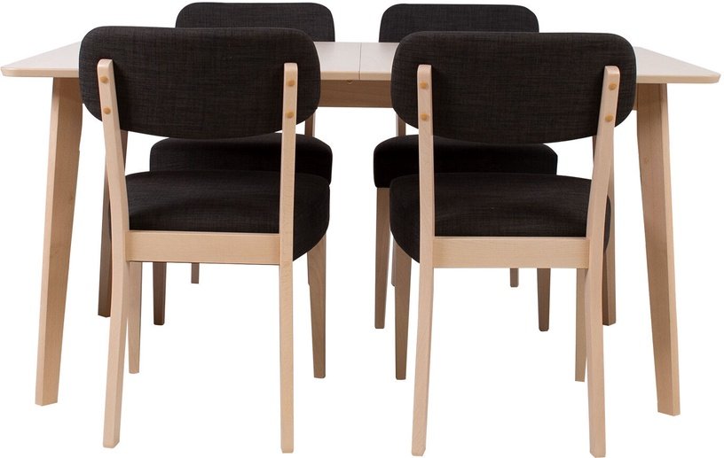 Home4You Adora Dining Room Set 4 Chairs Light Beech