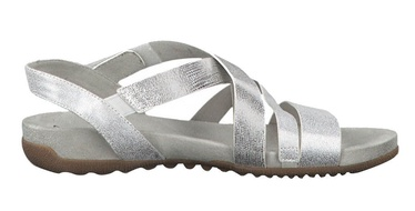 Basutės, Tamaris Sandal 1-1-28604-22 Silver Combination 40