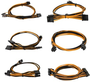 EVGA Power Supply Cable Set Orange/Black 100-G2-06KO-B9