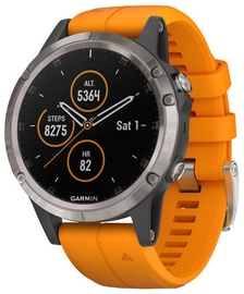 Garmin Fēnix 5 Plus Sapphire 47mm Titanium Solar Flare Orange
