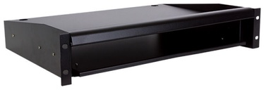 "Linkbasic Sliding Shelf for 19"" Cabinet Keyb./Monit. 600mm Black"