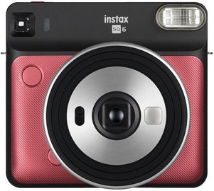Fujifilm Instax Square 6 Ruby Red + Instax Square Glossy