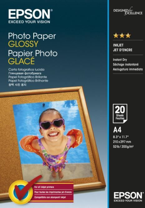 Epson Glossy Paper A4 210 x 297mm 200g