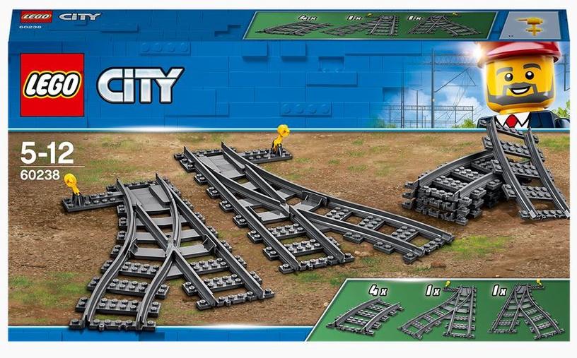 Конструктор LEGO City Железнодорожные стрелки 60238, 8 шт.