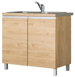 Bodzio Monia Lower Cabinet For Sink 90 Brown