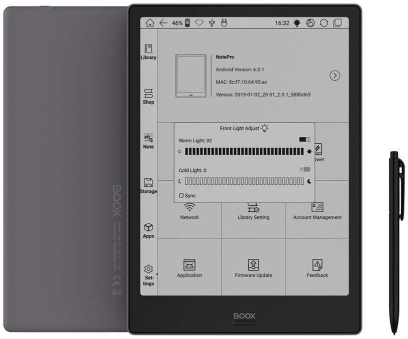 Elektroninė knygų skaityklė Onyx Boox Note Pro Gray, 64 GB