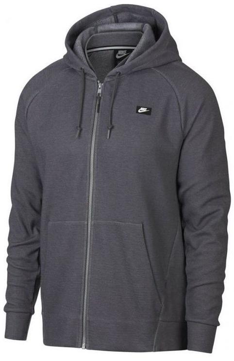 Nike Mens Full Zip Optic Hoodie 928475 021 Grey S