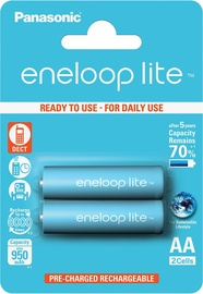 Panasonic Eneloop Rechargeable Battery Lite 2xAA 950mAh