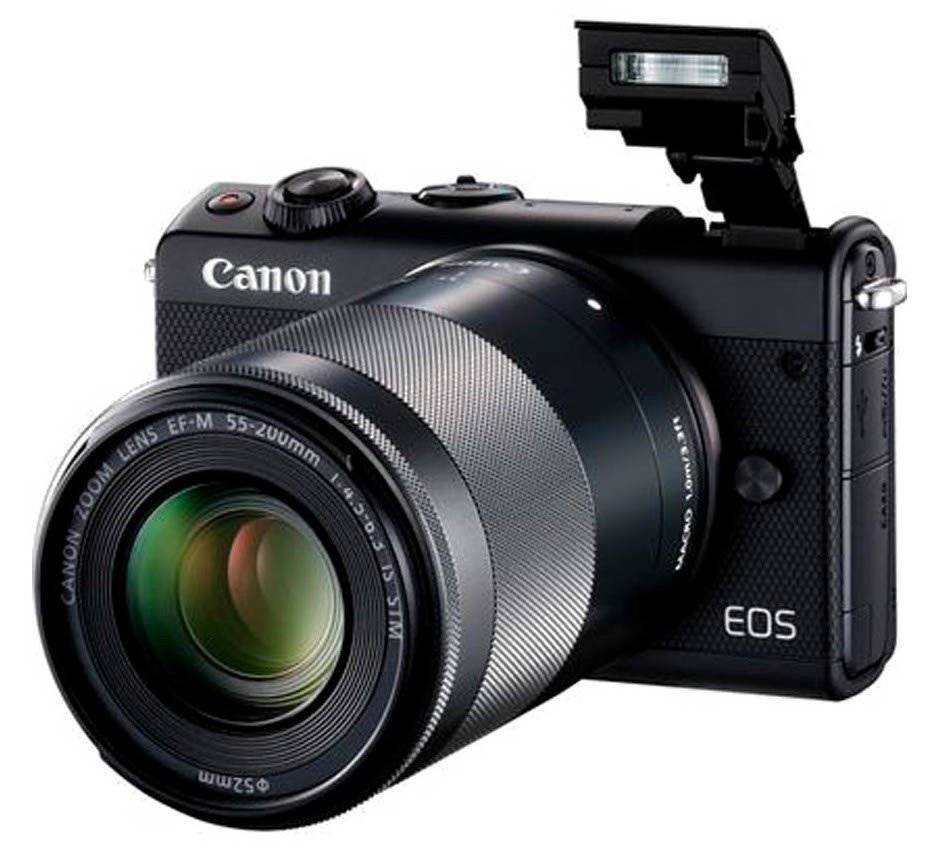 dedd4643462 Canon EOS M100 + EF-M 15-45 + EF-M 55-200 Black - Krauta.ee
