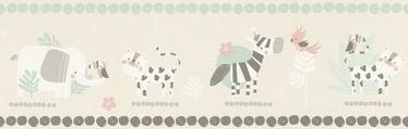 Tapetų juosta, Rasch, 249866, rusva, su gyvūnais