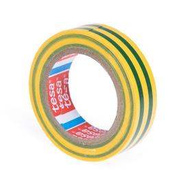 Izoliacinė juosta Tesaflex, žalia / geltona, 19 mm x 20 m