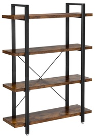 Songmics Bookshelf 105x33.5x138cm Brown/Black