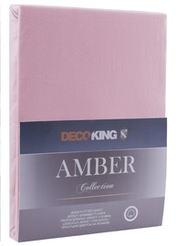 Palags DecoKing Amber Old Lilac, 220x200 cm, ar gumiju