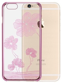 X-Fitted Lotus Swarovski Crystals Back Case For Apple iPhone 6/6s Rose