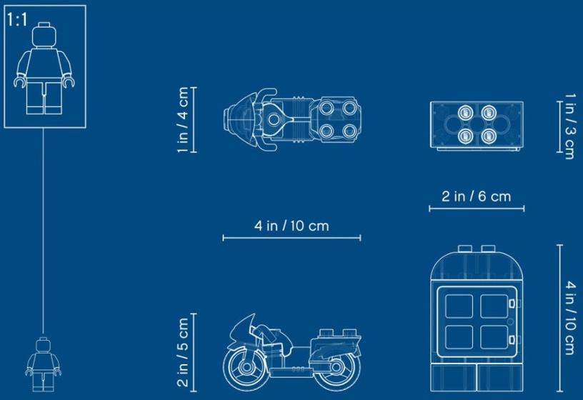 Конструктор LEGO Duplo Полицейский мотоцикл10900, 8 шт.