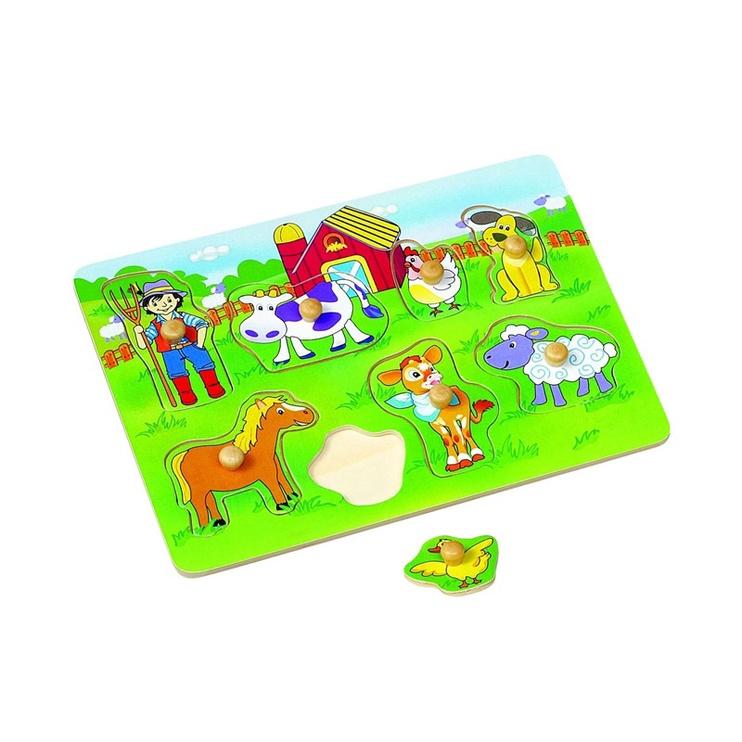 Lavinamasis žaislas, gyvūnai, medinis