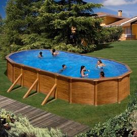 Karkasinis baseinas GRE Pools Wood, 500 x 300 x 120 cm