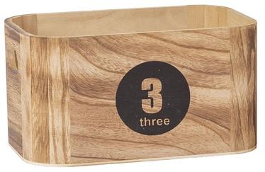 Home4you Nomo-3 Wood Box Brown