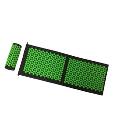 Fitnesa un jogas paklājs SIX7FIT, melna/zaļa, 130 cm x 2 cm x 42 mm
