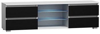 ТВ стол Pro Meble Milano 150 White/Black, 1500x350x420 мм