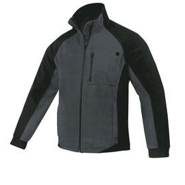 Fleece Work Jacket Black/Grey XL