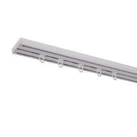 Aliuminio lubinio karnizo komplektas, 3 grioveliai, 200 cm